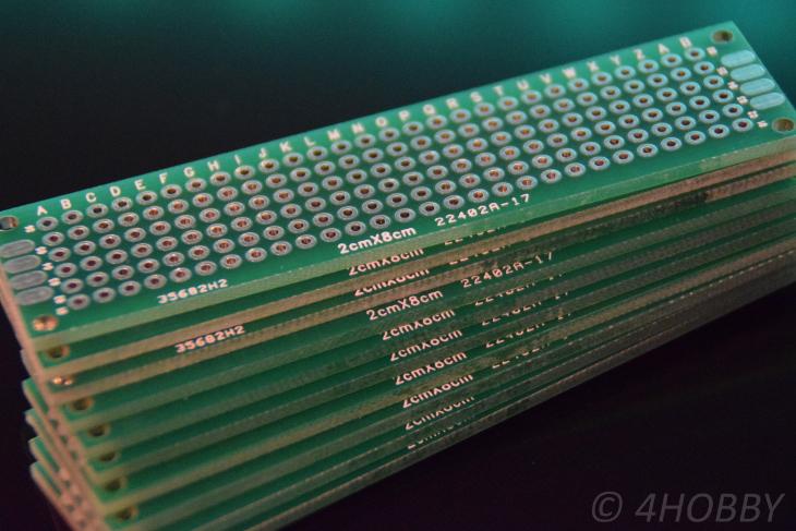 10x Lochrasterplatine 2x8cm Lochraster Platine Lötplatine Leiterplatte Prototyp