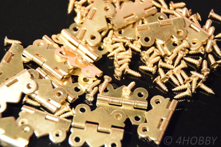 Spannverschluss Schnappschloss 37 mm gold Metall mit Schrauben Kiste Schatulle