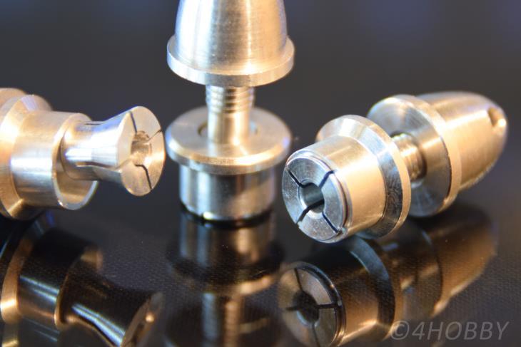 2 Propeller-Adapter 3mm Welle Spanner Luftschraube CNC Spinner Alu Mitnehmer