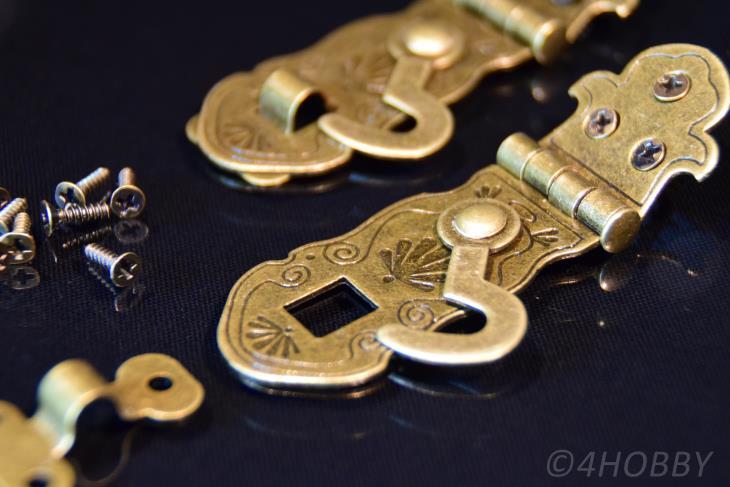 2 Verschlüsse Antik abschließbar 55mm Schließe Schatztruhe Truhe Schatzkiste Alt