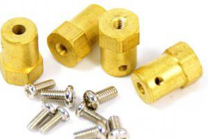 2x Einlass/Auslass Messing 90° für 4mm Schlauch Anschluss Düse Wasser Gas RC Auto, motor: onderdelen, accessoires